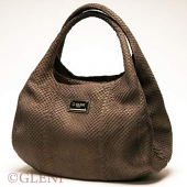 Borsa hobo in pelle di anaconda