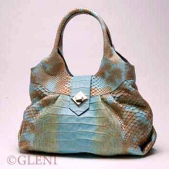 Borsa Hobo in pitone e alligatore