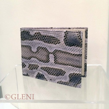 Men's python wallet in soft tonalities