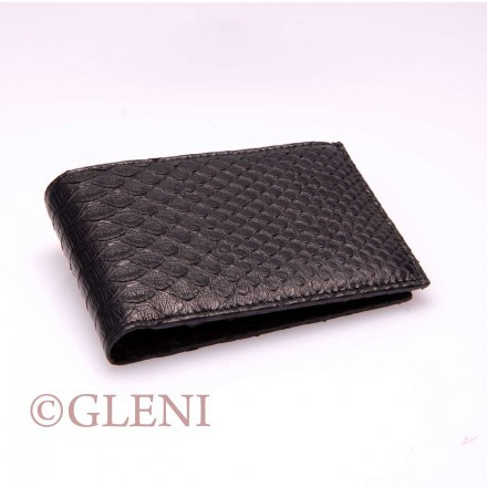 Classic men's python wallet 118 in mat black color