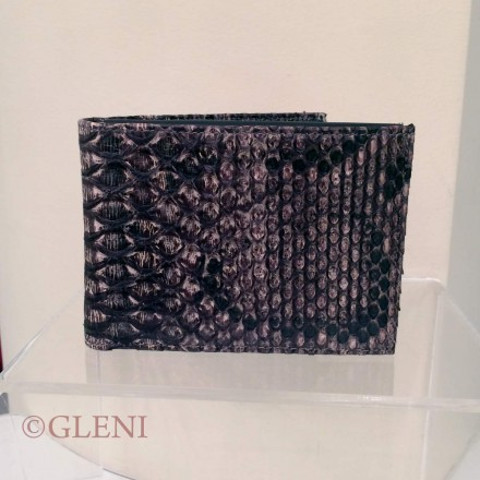 Precious jeans brown man wallet 2100 in python skin