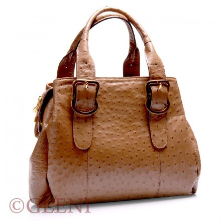 Luxury ostrich handbag 3772
