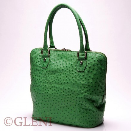 Comfortable and luxurious tote handbag in ostrich leather 3842