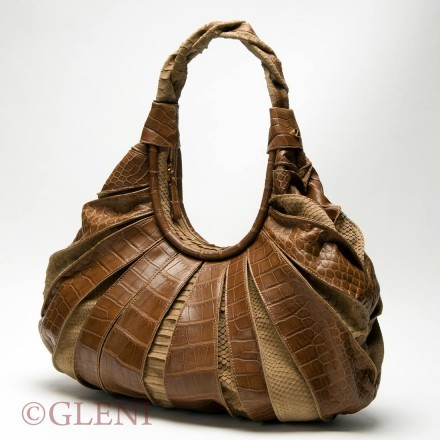 Amazing mix of crocodile and python leather for hobo bag 4868