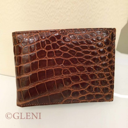 Refined men's wallet 118 in genuine crocodile