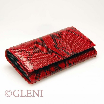 Luxury python wallet in Shiny Red color ASS-1