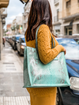Borsa shopper verde acqua by GLENI