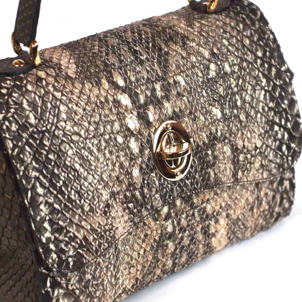 Gleni borsa in pitone e anaconda  made in Italy