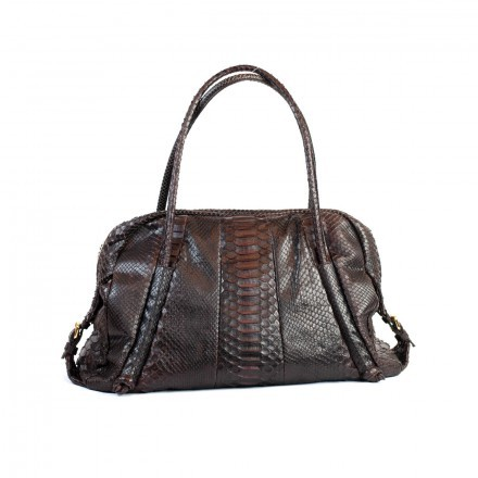 Borsa Gleni in vera pelle di pitone 100% made in Italy