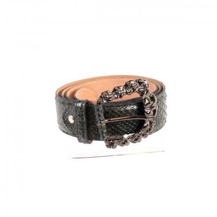 Delicate genuine python leather belt C4000