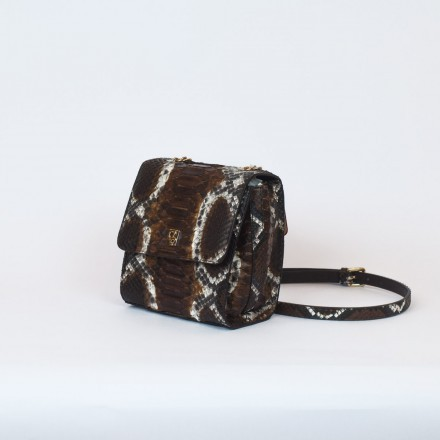 Mini bag in vero pitone made in Italy GLENI